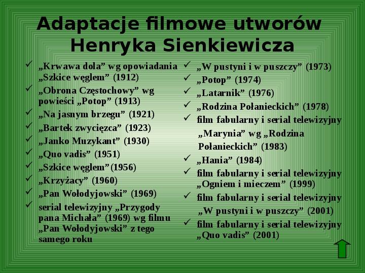 Polscy nobliści w dziedzinie literatury - Slajd 13