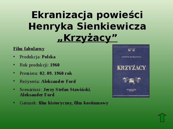 Polscy nobliści w dziedzinie literatury - Slajd 14