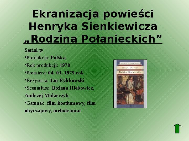 Polscy nobliści w dziedzinie literatury - Slajd 26
