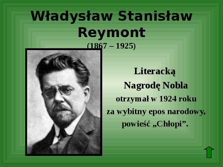 Polscy nobliści w dziedzinie literatury - Slajd 30