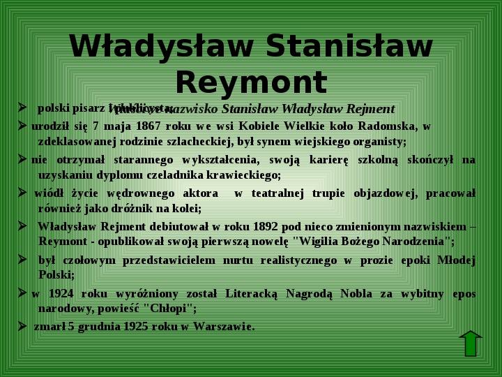 Polscy nobliści w dziedzinie literatury - Slajd 31