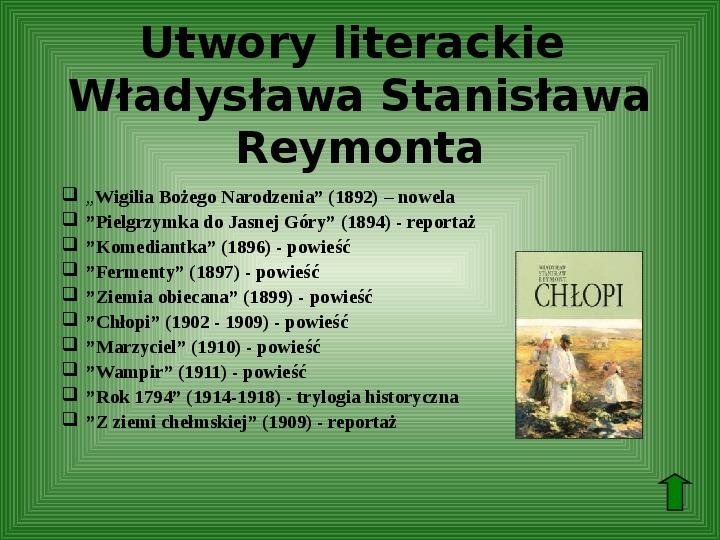 Polscy nobliści w dziedzinie literatury - Slajd 32