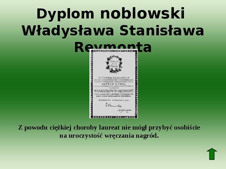 Polscy nobliści w dziedzinie literatury - Slajd 33