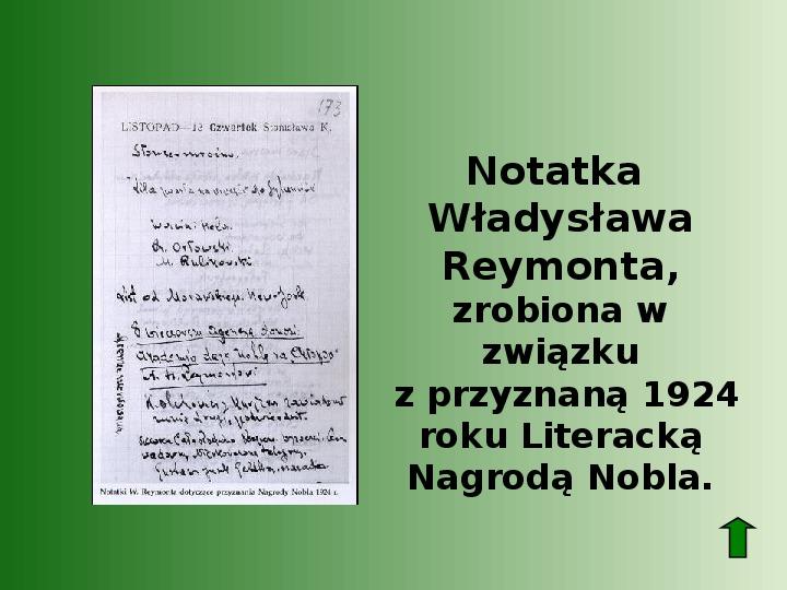 Polscy nobliści w dziedzinie literatury - Slajd 34