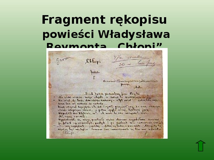 Polscy nobliści w dziedzinie literatury - Slajd 35
