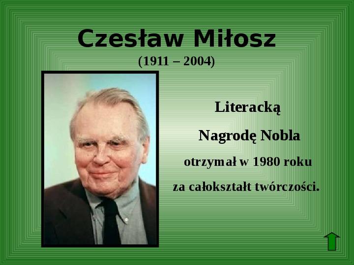 Polscy nobliści w dziedzinie literatury - Slajd 50
