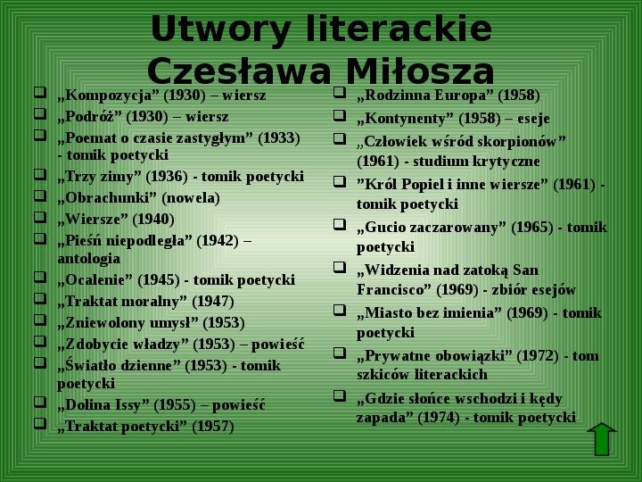 Polscy nobliści w dziedzinie literatury - Slajd 52