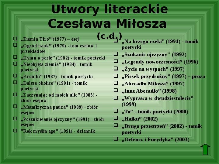 Polscy nobliści w dziedzinie literatury - Slajd 53