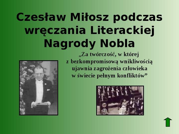 Polscy nobliści w dziedzinie literatury - Slajd 54