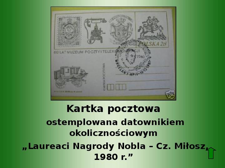 Polscy nobliści w dziedzinie literatury - Slajd 56
