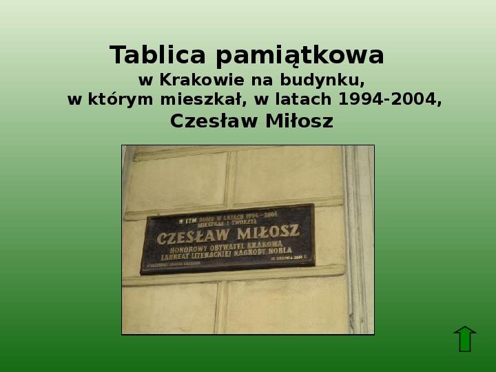 Polscy nobliści w dziedzinie literatury - Slajd 59