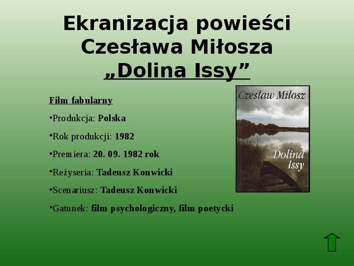 Polscy nobliści w dziedzinie literatury - Slajd 60