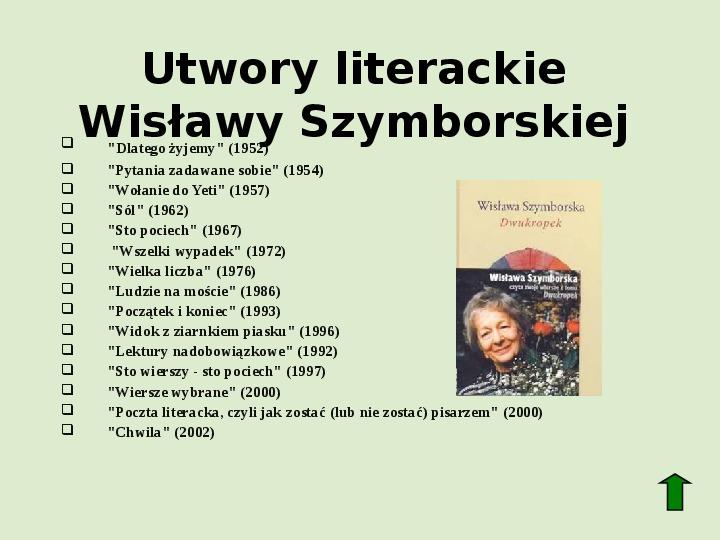 Polscy nobliści w dziedzinie literatury - Slajd 64