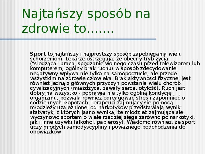 Sport to też rekreacja - Slajd 5