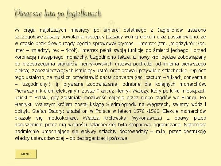 Królowie Polski z dynastii Jagiellonów - Slajd 14