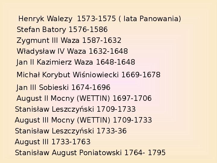 Polscy królowie elekcyjni - Slajd 1