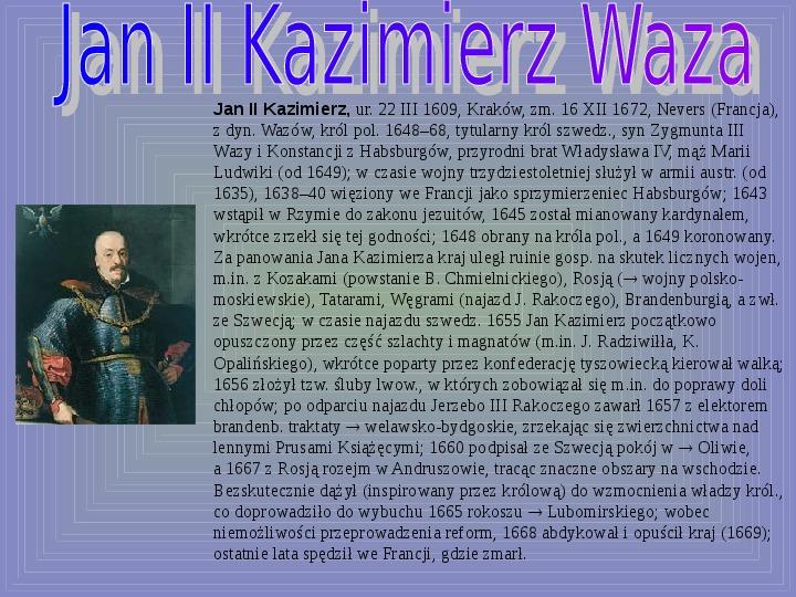 Polscy królowie elekcyjni - Slajd 7