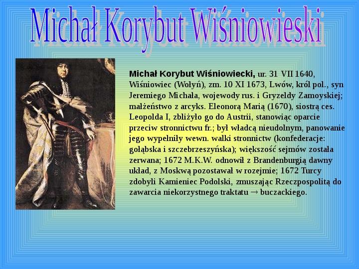 Polscy królowie elekcyjni - Slajd 8