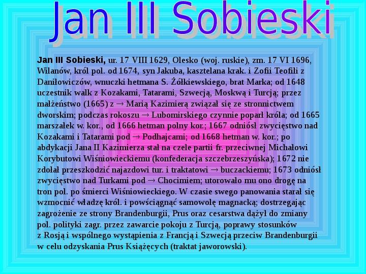 Polscy królowie elekcyjni - Slajd 9