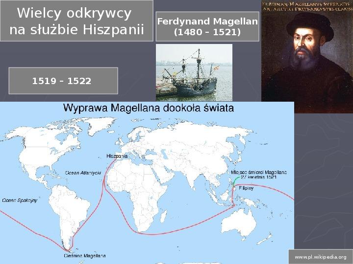 Prezentacja Odkrycia geograficzne - Świat Prezentacji