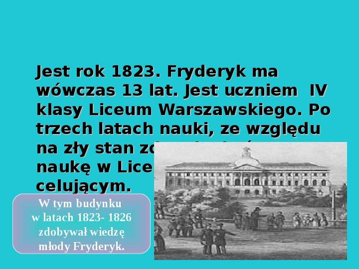 Fryderyk Chopin - największy polski kompozytor - Slajd 10