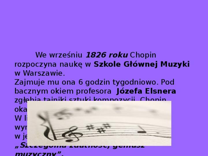 Fryderyk Chopin - największy polski kompozytor - Slajd 11