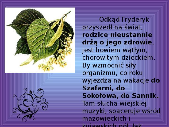 Fryderyk Chopin - największy polski kompozytor - Slajd 12