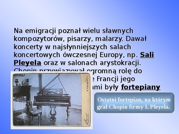 Fryderyk Chopin - największy polski kompozytor - Slajd 22