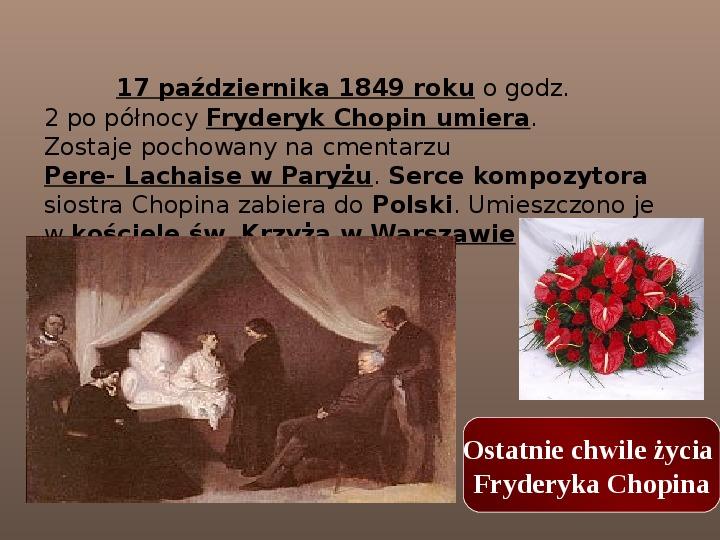 Fryderyk Chopin - największy polski kompozytor - Slajd 28