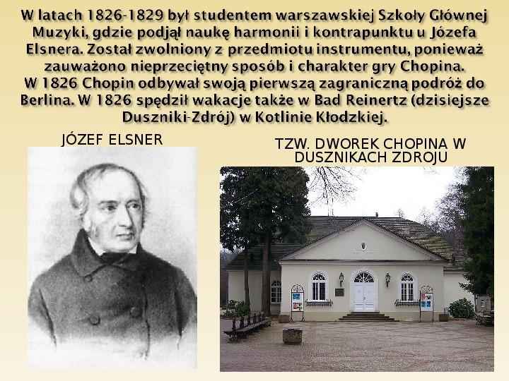 Śladami Fryderyka Chopina - Slajd 5
