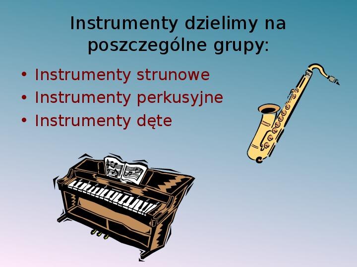 Instrumenty muzyczne - Slajd 2