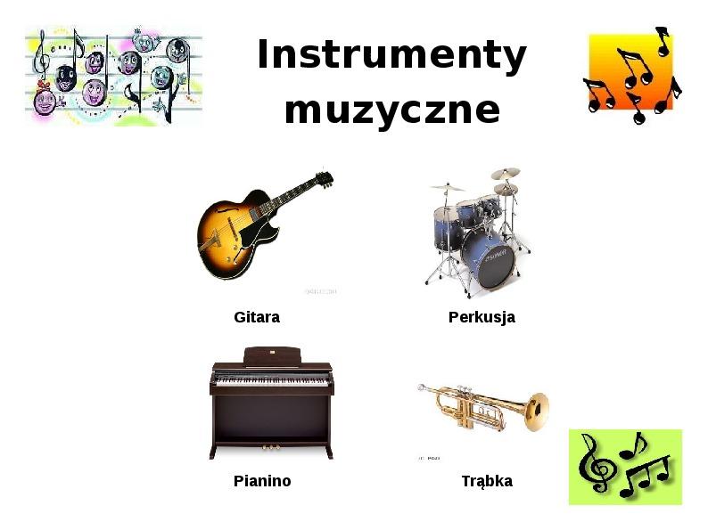 Instrumenty muzyczne - Slajd 1