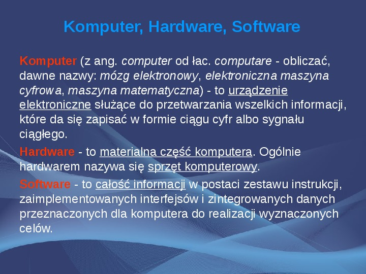 Komputer i Informatyka - Slajd 1