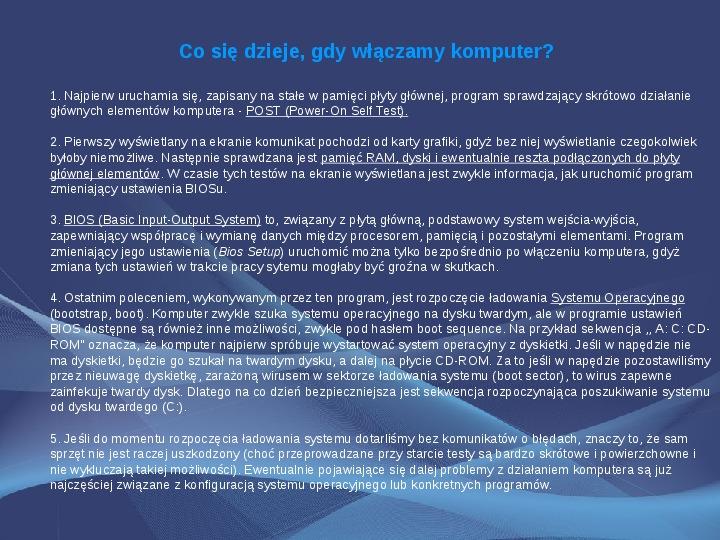 Komputer i Informatyka - Slajd 8
