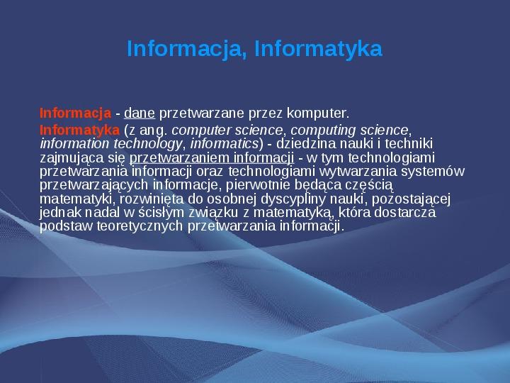 Komputer i Informatyka - Slajd 9