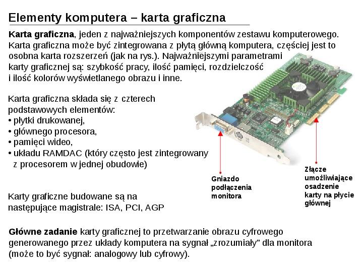 Budowa i działanie komputera - Slajd 20