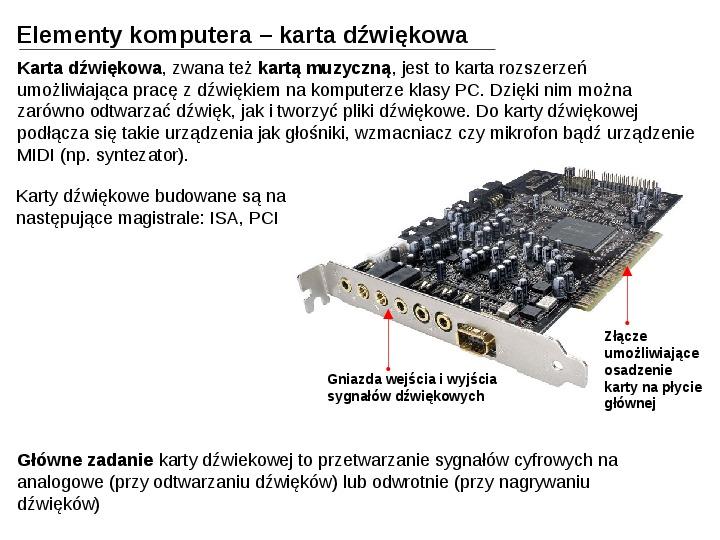Budowa i działanie komputera - Slajd 21