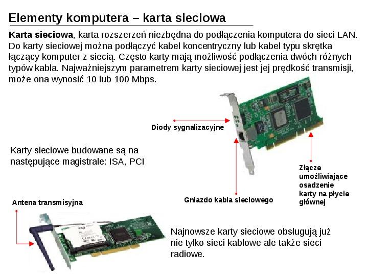 Budowa i działanie komputera - Slajd 22