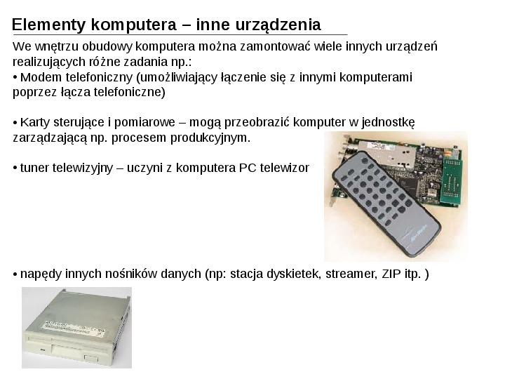 Budowa i działanie komputera - Slajd 26