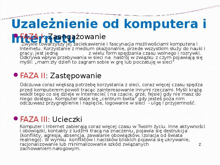 KOMPUTERY, INTERNET KORZYŚCI I ZAGROŻENIA - Slajd 3