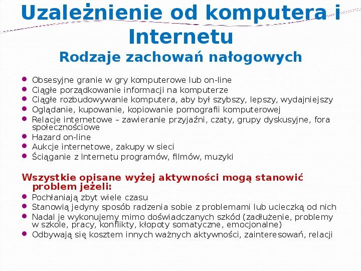 KOMPUTERY, INTERNET KORZYŚCI I ZAGROŻENIA - Slajd 4