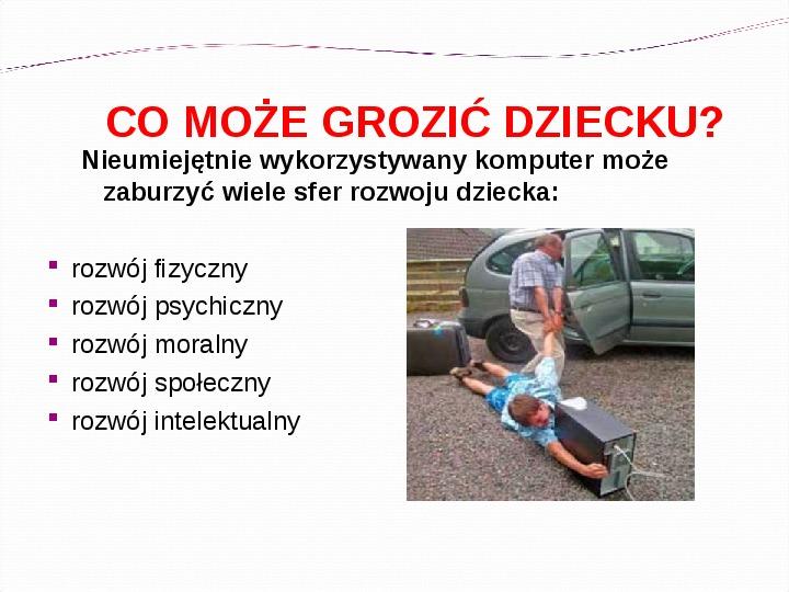 KOMPUTERY, INTERNET KORZYŚCI I ZAGROŻENIA - Slajd 6