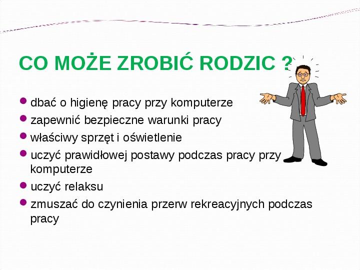 KOMPUTERY, INTERNET KORZYŚCI I ZAGROŻENIA - Slajd 8