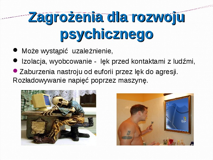 KOMPUTERY, INTERNET KORZYŚCI I ZAGROŻENIA - Slajd 9