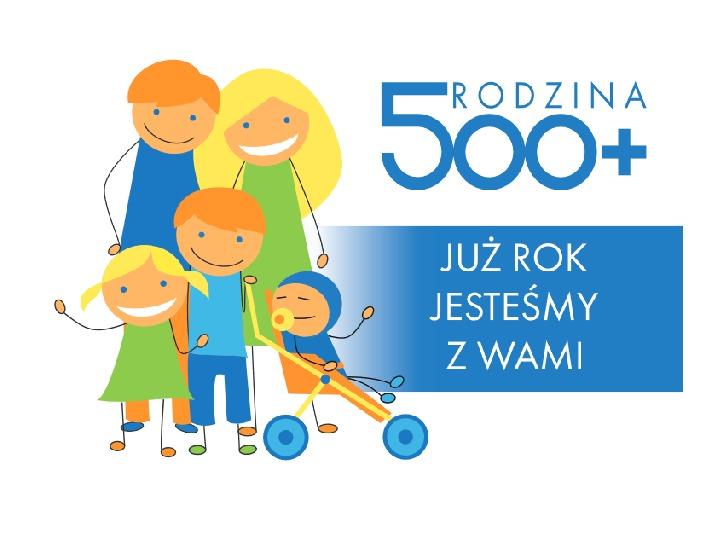 Rodzina 500 plus - Slajd 1