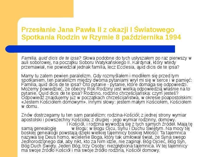 JAN PAWEŁ II - Slajd 10