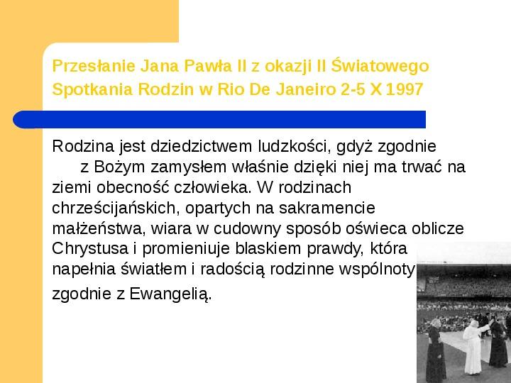 JAN PAWEŁ II - Slajd 11