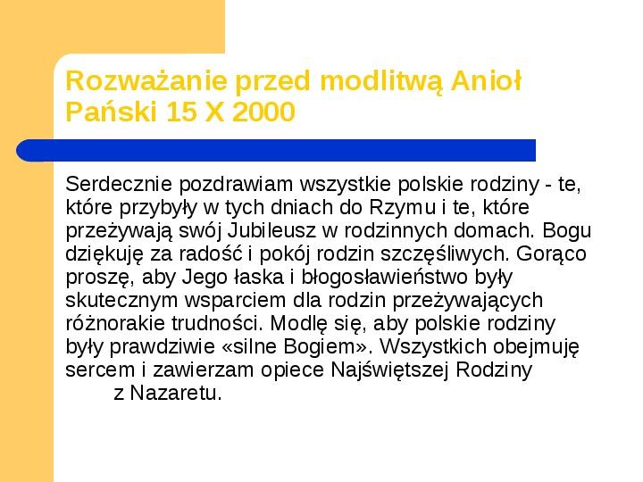JAN PAWEŁ II - Slajd 16
