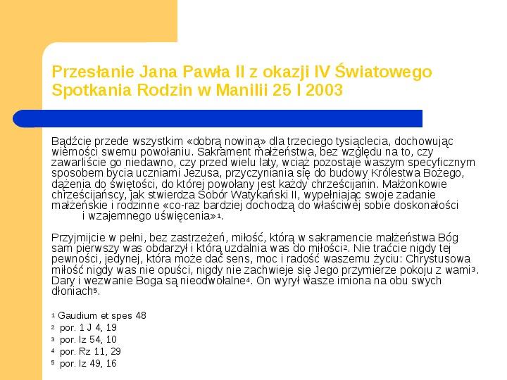 JAN PAWEŁ II - Slajd 17