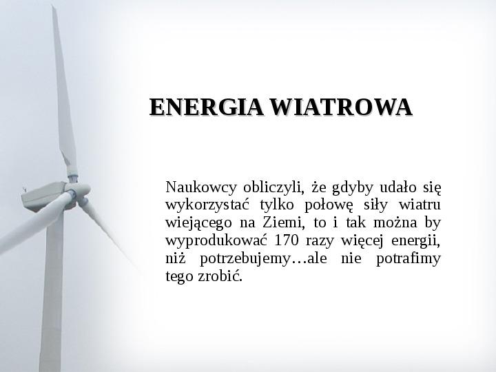 Energia wiatrowa - Slajd 1